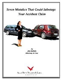 cover of book entitled 7 Mistakes That Can Sabotage Your Accident Claim